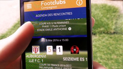 "Footclubs Compagnon : La version mobile ""light"" de Footclubs"