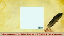 Read  Measurement of Joint Motion A Guide to Goniometry Ebook Free