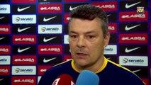 FCB Handbol: Xavi Pascual, previa FCB Lassa-Naturhouse La Rioja [ESP]