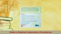 Read  Palkos Medical Laboratory Procedures Ebook Free
