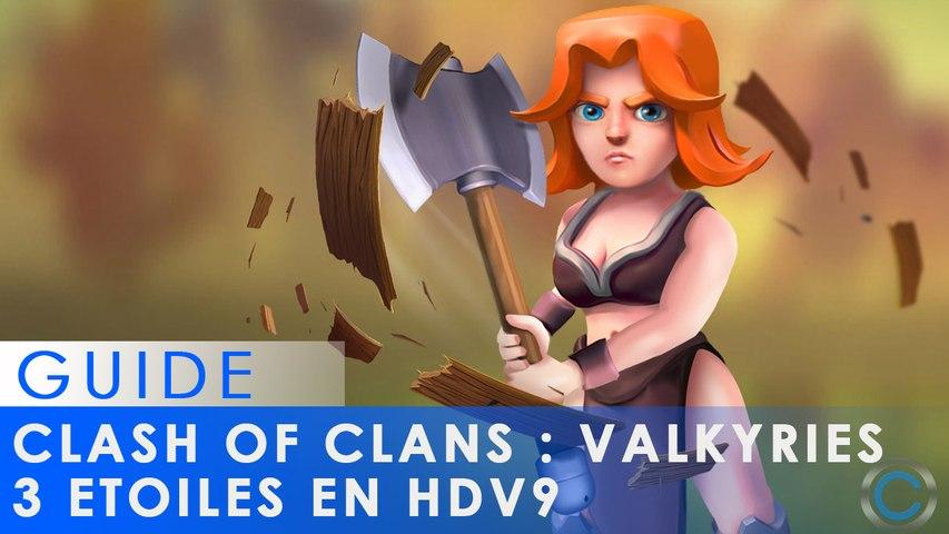 Clash of Clans - Trois étoiles garanties sur HDV9 en GoVaHog