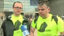 Nicolás Muñoz, un padre que recorre 1.400 km a pie para reivindicar la custodia compartida