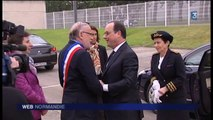 François Hollande à Grand-Quevilly