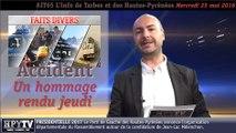 [JT65] L'info de Tarbes et des Hautes-Pyrénées (25 mai 2016)