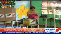 Rectora Sandra Oblitas afirma que aún no hay fecha para recolección del 20% de firmas para revocatorio