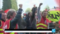 France labour dispute: Fuel shortages spread as protest movement gather speed