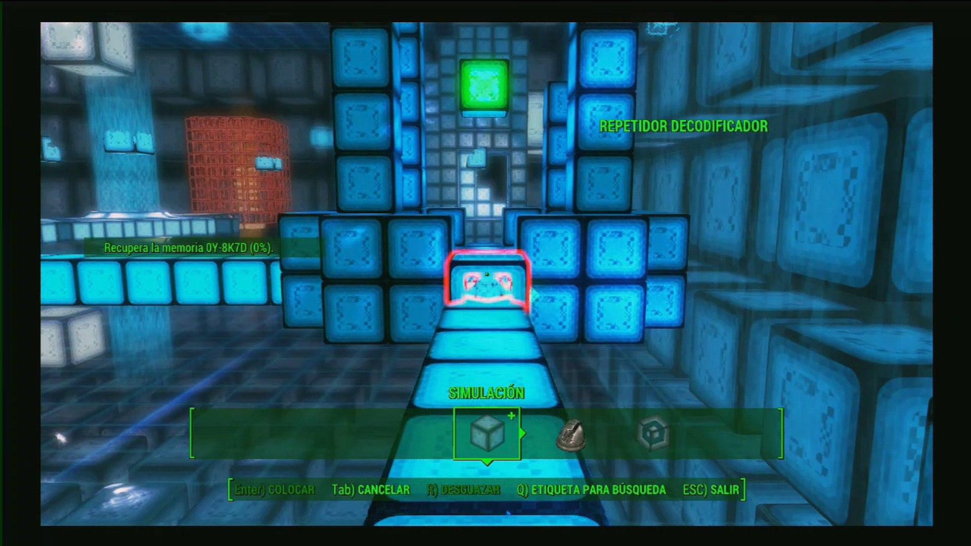 Fallout 4 gameplay Español parte 111, Far Harbor DLC, La simulacion 5 para recuperar la memoria