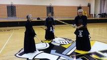 2013-06-28, Yano Sensei Seminar, Part 19: Kote-Suriage-Hiki-Kote with Shinai