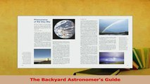 Download  The Backyard Astronomers Guide Ebook Online