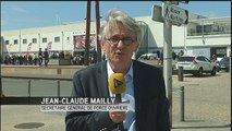 """Jean-Claude Mailly (FO) : """"Force Ouvrière soutient les blocages"""" - Le 25/05/2016 à 13h13"""