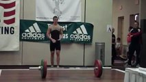 15 Year Old Chris Lenahen Snatches 96kg @ 76kg