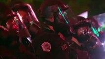 Trump protesters smash door, clash with police at Donald Trump rally