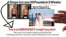 EMERGENCY Diet  Lose 20 Pounds in 3 weeks or... 22 lbs. in 23 days like he did