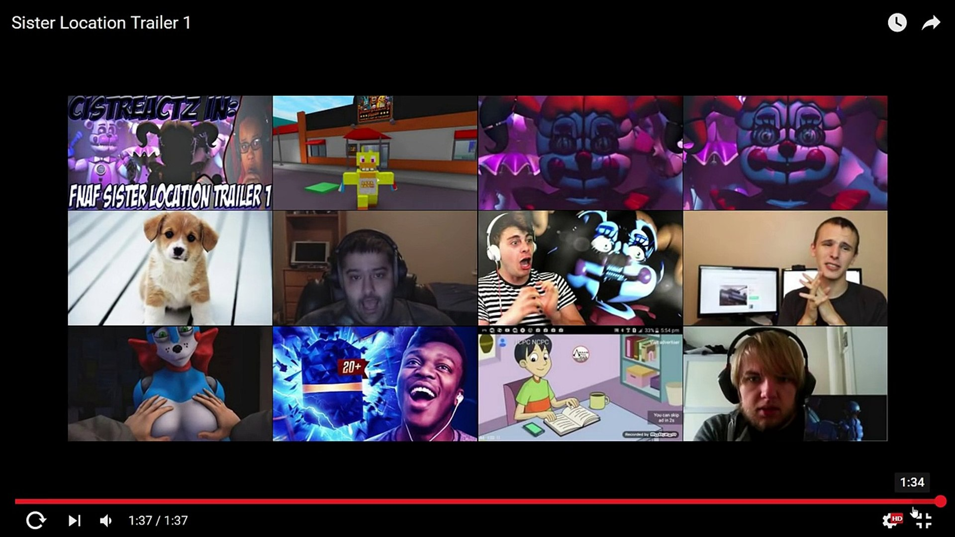 FNAF Sister Location Trailer 1 - FULL TRAILER REACTION/ BREAKDOWN! (FNAF GAMEPLAY TRAILER)