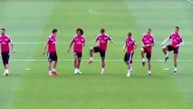 Cristiano Ronaldo was hypnotized by Marcelo and James Rodriguez skills show at Real Madrid C.F. training