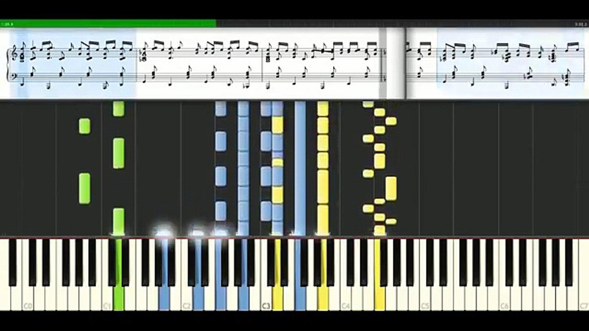 Synthesia Alexander Rybak Fairytale Piano Tutorial Synthesia