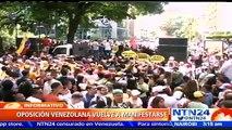 Tercer miércoles de marchas: oposición venezolana salió a las calles a ejercer presión por referendo revocatorio contra Maduro