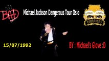 Michael Jackson Dangerous World Tour Oslo 1992 ''BAD''(Pro Audio) Full Song