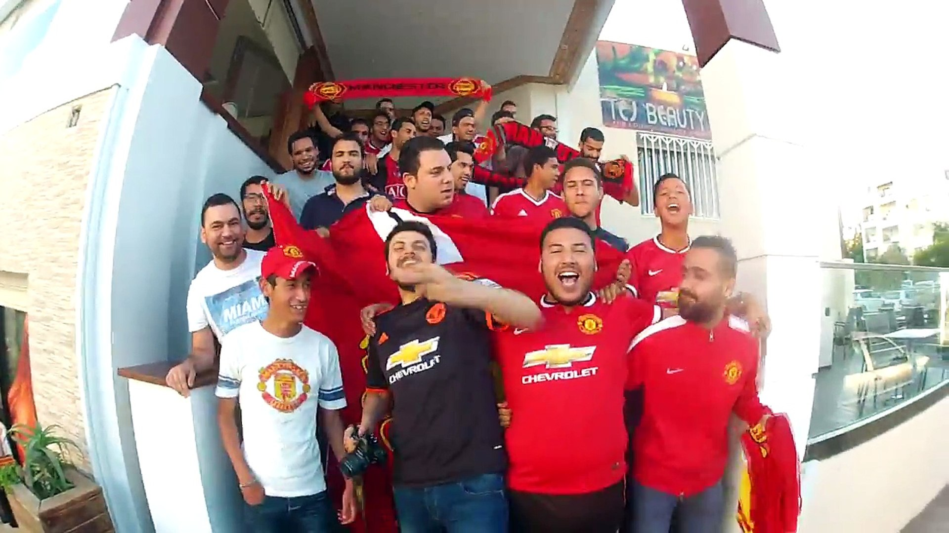 Manchester United Fans In Tunisia Facup2016 (Manchester United Vs Crystal Palace )