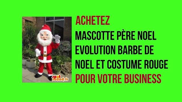 Mascotte SpotSound père noël evolution barbe de noël et Costume SpotSound rouge