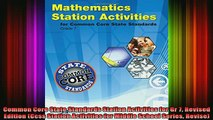 best book  Common Core State Standards Station Activities for Gr 7 Revised Edition Ccss Station