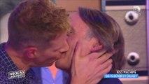Le baiser fougueux entre Matthieu Delormeau et François Viot