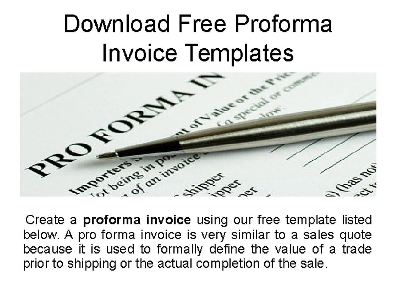 Download Free Proforma Invoice Templates Word Pdf Samples