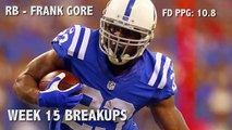 Fantasy Breakups: Three guys you shouldn't put in your Week 15 lineup