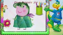 Peppa Pig Inside Out Daddy Fingers Painting / Family Finger Song Nursery Rhymes Lyrics