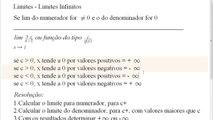 Limites - Limites infinitos Aula 1