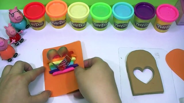 Peppa pig español toys   creations play doh rainbow ice cream fun videos