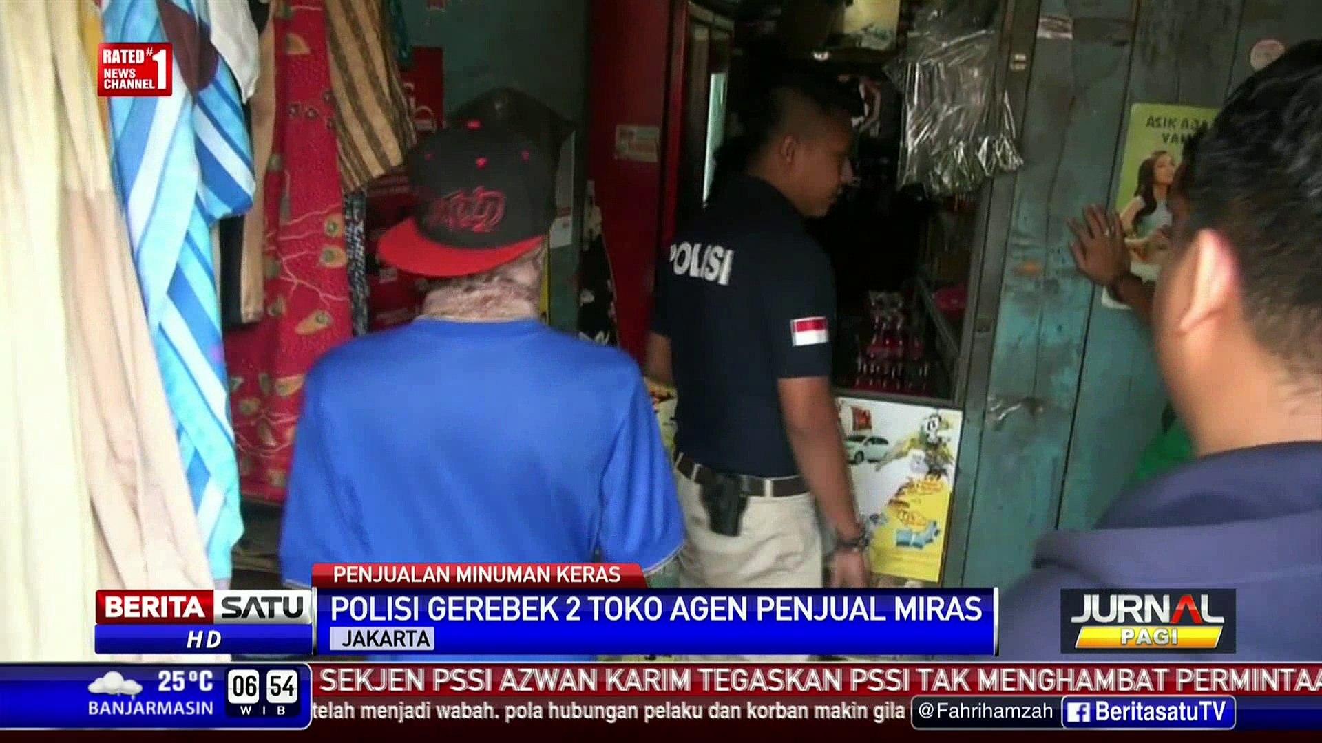 Polisi Sita 72 Dus Miras Ilegal di Tomang