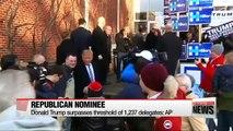 Trump secures enough delegates to clinch Republican nomination