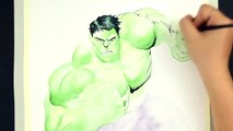 SPEED DRAWING THE HULK   Marvel Avengers Watercolor Painting