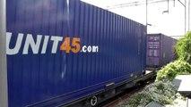 DRS 66434 Working 4L48 Daventry Drs Dirft2 to Purfleet Deep Wtr Wf (Flt) Passing Barking 23/06/2015