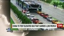 Les chinois inventent le bus du futur pour passer au dessus des voitures et éviter les embouteillages - Regardez