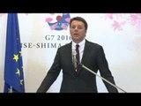 Giappone - Renzi al Vertice G7 Giappone - Conferenza stampa (26.05.16)