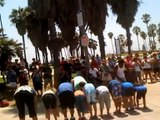 Venice Beach Street Dancing Hip-Hop Group Part 2 Jumps Over 20 People!!