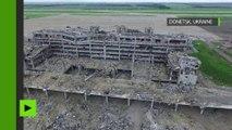 Les ruines de l'aéroport de Donetsk vues d'en haut