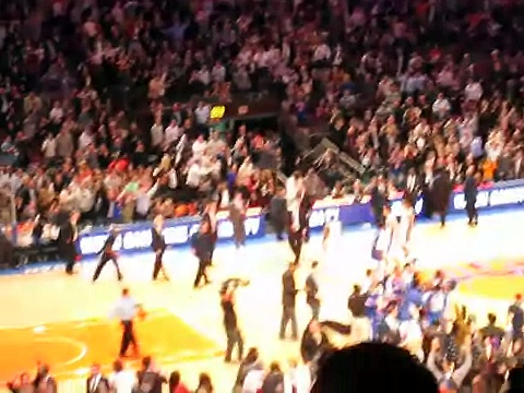 2010.12.15 – NYC Day 1 – Knicks vs. Celtics Game Amare Hits A 3 Pointer At the Buzzer