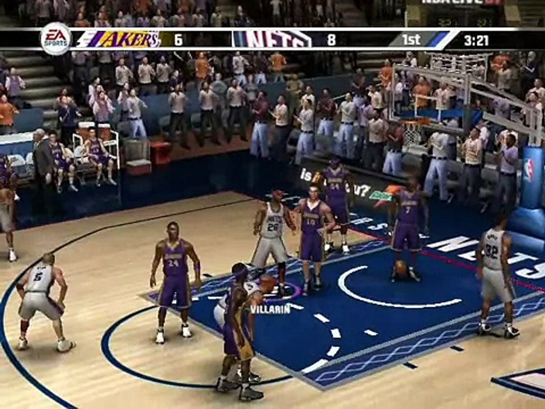 NBA Live 2007 Villarin Dynasty Game 25 New Jersey vs LA Lakers 2007