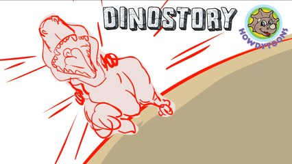 The Making of T-Rex chases Triceratops - Dinosaur Songs from Dinostory by Howdytoons
