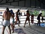 Joe Dylan and Mo training at Jun Muay Thai Camp Lamai 25 2 11