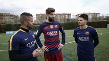 F2 TRAIN WITH FC BARCELONA - MESSI, SUAREZ, PIQUE, TURAN & TER STEGEN! Learn the Barça Way with Bek