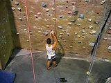 Steve - Red wall rope 28 - slight overhang at Climb-Fit Sydney