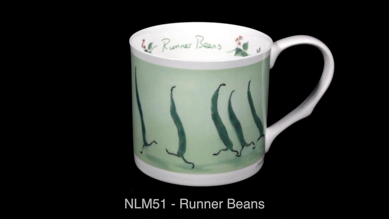 Runner Beans – Bone china mugs by Two Bad Mice