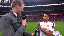 Crystal Palace 1-2 Manchester United - FA Cup Final - Jesse Lingard Post Match Interview.