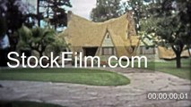 1972: Old country settler house tourist attraction in British Columbia, Canada. VICTORIA, BC