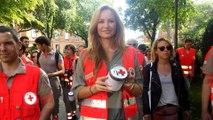 Adriana Karembeu soutient la Croix Rouge à Toulouse