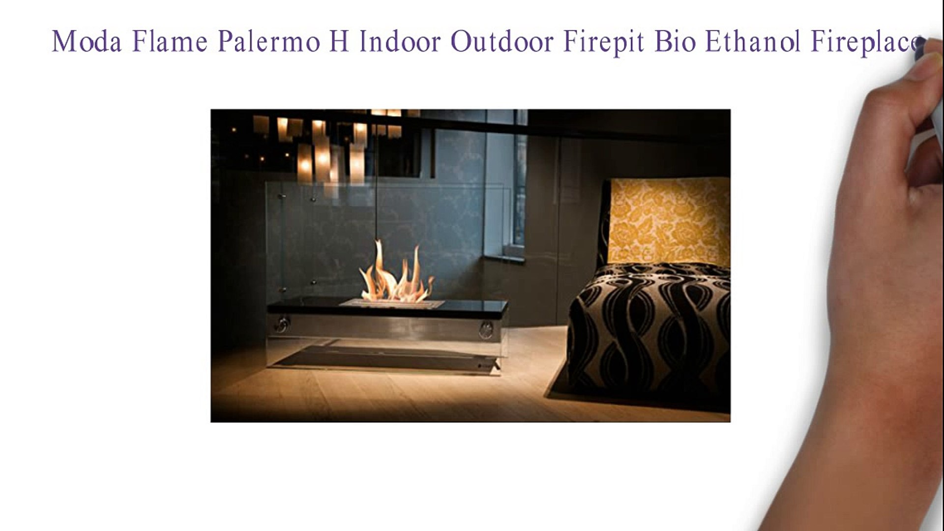 Moda Flame Palermo H Indoor Outdoor Firepit Bio Ethanol Fireplace